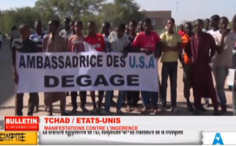 webtv-tchad djamena manif anti-us 2
